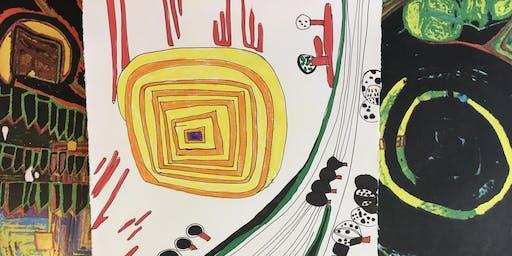 Hundertwasser inspired local map drawing