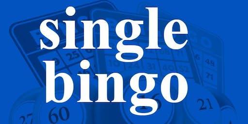 SINGLE BINGO TUESDAY OCTOBER 15, 2019