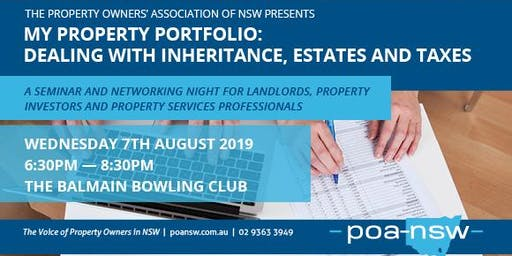 My Property Portfolio: Dealing with Inheritance, Estates and Tax.