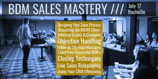BDM Sales Mastery Workshop: The Ultimate Event for PM Sales Professionals