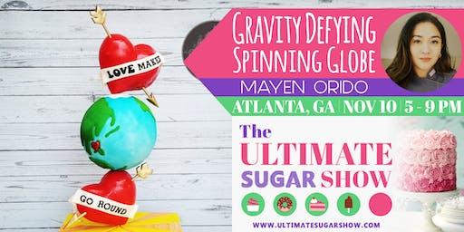 Gravity Defying Spinning Globe Cake with Mayen Orido