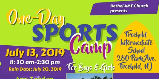Bethel  AME 2019 Annual One Day Sports Camp