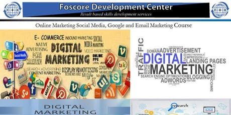 Online Marketing Social Media, Google and Email Marketing Course tickets