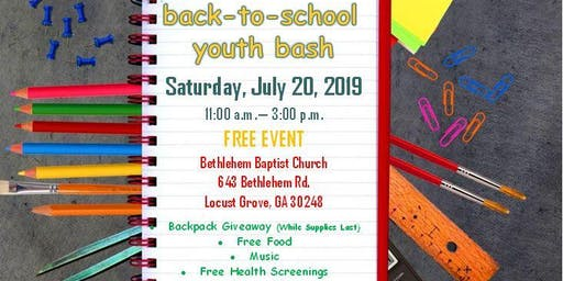 Back-to-School Youth Bash
