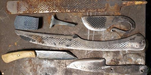 Beginner blacksmith blade build (farriers rasp)