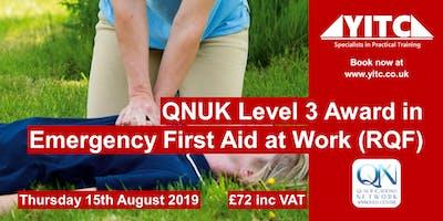QNUK Level 3 Award in Emergency First Aid at Work (RQF)