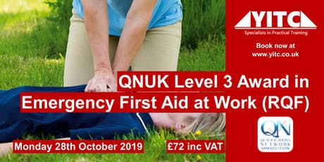 QNUK Level 3 Award in Emergency First Aid at Work (RQF) tickets