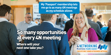4N Networking Lunch Glasgow City Centre 10th July 2019 tickets