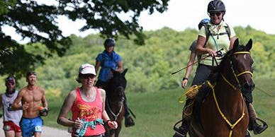 Sponsor Susan Dodge in the Vermont 100 Endurance Race on July 20, 2019