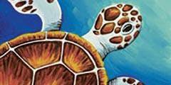 Wine & Canvas - Sea Turtle