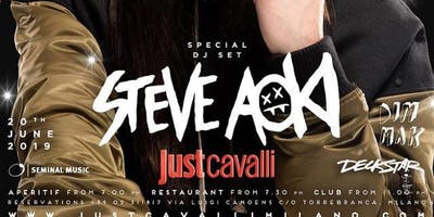 Giovedì Just Cavalli Steve Aoki