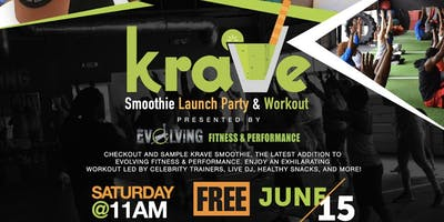 KRAVE Smoothie RELaunch Party & Workout