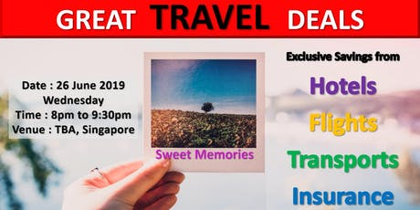 Great Travel Deal Networking and sharing session tickets