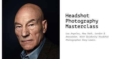 Two Day Headshot Photography Masterclass Amsterdam With Celebrity Photographer Rory Lewis tickets