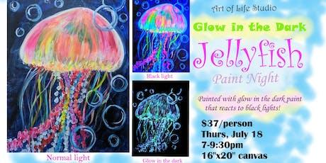 Paint Night: Glow in the Dark JELLYFISH tickets