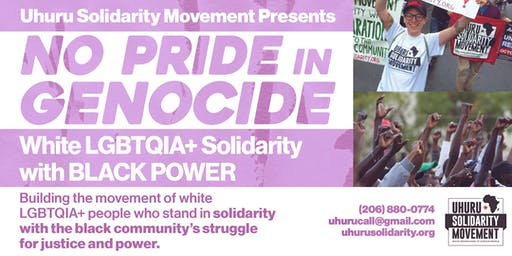 No Pride in Genocide: White LGBTQIA+ Solidarity with Black Power