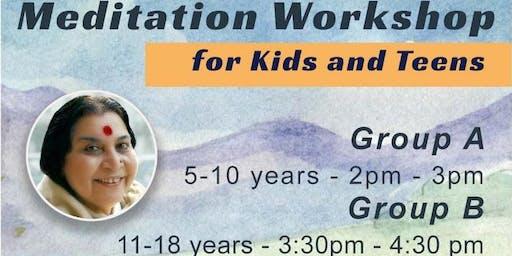 Summer Meditation Workshop for (3 week series)