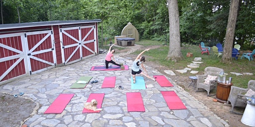 Yoga Wednesdays at the Caboose!