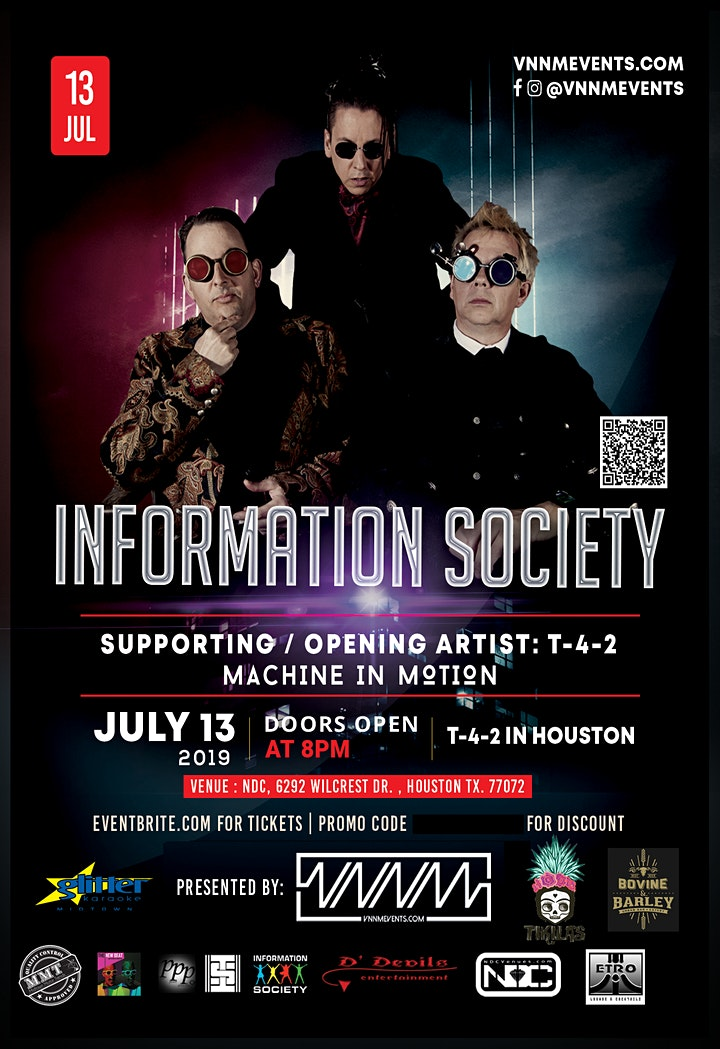 Information Society / T-4-2 / Machine in Motion - Concert  July 13th image