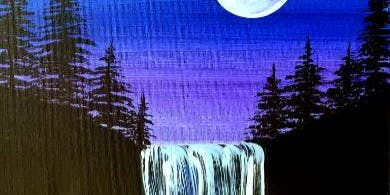 Paint Wine Denver Moonlight Waterfall Mon Aug 26th 6:30pm $30