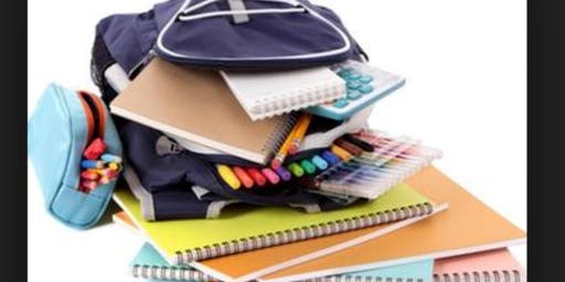 Back To School Free!! Book bag and school supplies give away