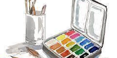 Paint Wine Denver Watercolor Workshop Sun Aug 11th 10am $25