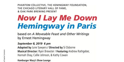 Readers Theatre: Now I Lay Me Down: Hemingway in Paris