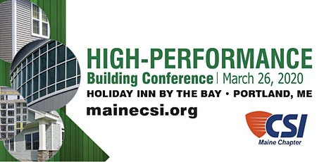 Sponsorship - Maine CSI 2020 High-Performance Building Conference  tickets