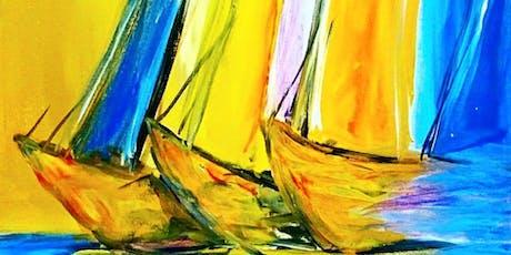 Paint Wine Denver Three Ships Sun July 21st 5:30pm $25 tickets