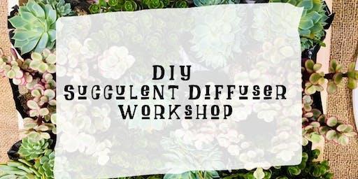 DIY Succulent Diffuser workshop w/essential oils