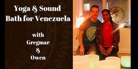 Yoga & Sound Bath for Venezuela tickets