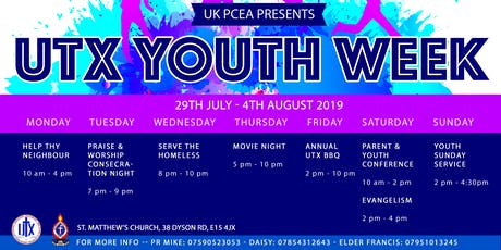 UTX Youth Week  tickets