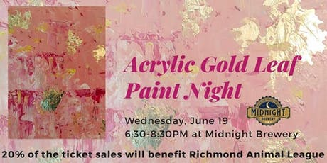 Acrylic Gold Leaf Paint Night tickets