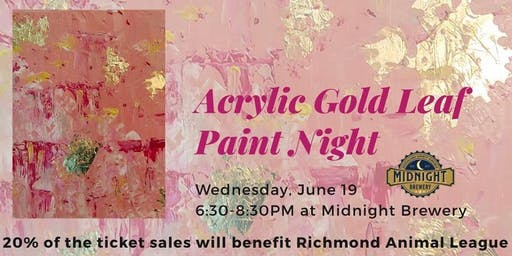 Acrylic Gold Leaf Paint Night