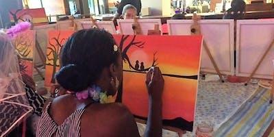 "Tapas & Sangria Paint ""n"" Sip social paint night!"