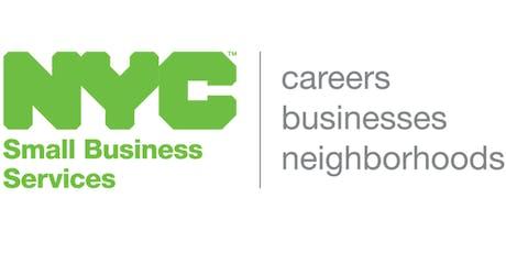 NYC Small Business Training Grants Program, Webinar, 8/14/2019 tickets