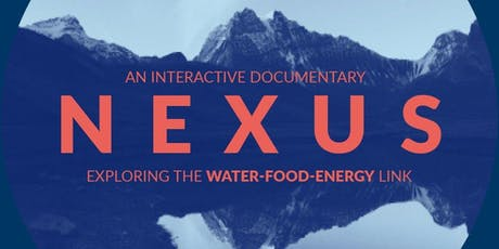 NEXUS:  connecting the planet through food, energy, and water tickets