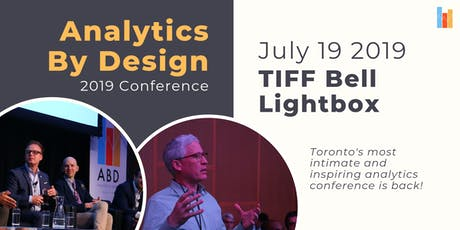 Analytics By Design 2019 Conference tickets