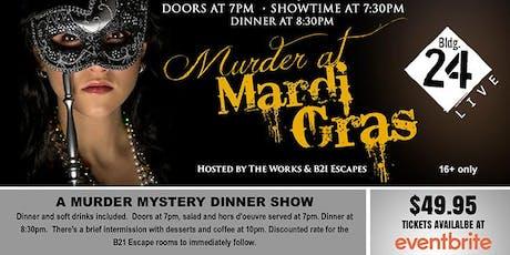 The Works Murder Mystery Dinner Show (Murder at Mardi Gras) tickets