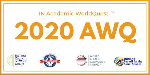 2020 Team Registration for IN Academic WorldQuest