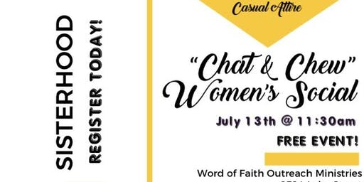 """Chat & Chew"" Women's Social"