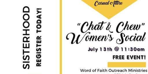 """Chat & Chew"" Women's Social"