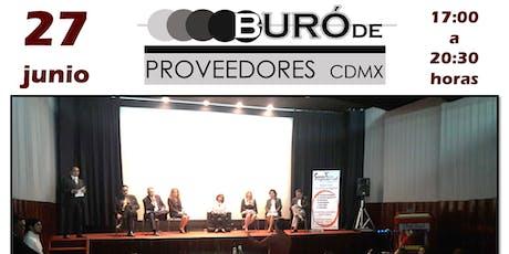 Buró de Proveedores CDMX Junio entradas