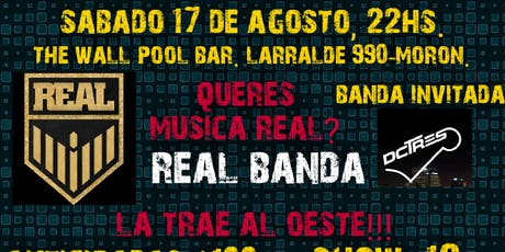 REAL BANDA EN THE WALL POOL BAR. entradas