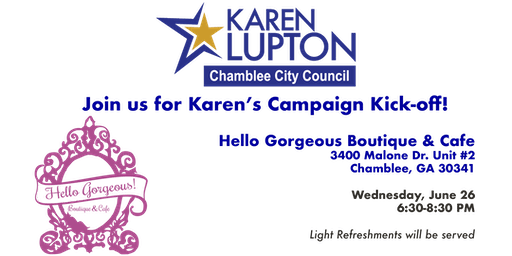 Karen Lupton for Chamblee City Council Campaign Kick-off & Fundraiser