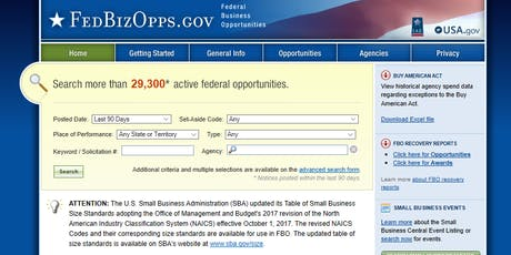 Learn How To Find State and Federal Contracts- Small Business Development tickets