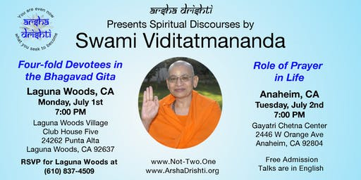 Four-fold Devotees in the Bhagavad Gita - A Talk by Swami Viditatmananda