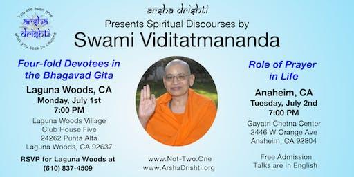 Role of Prayer in Life - A Talk by Swami Viditatmananda