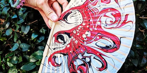 Experimental Marbling on Paper & 3D Objects with Bronwyn