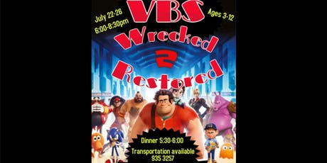 Wrecked to Restored VBS tickets